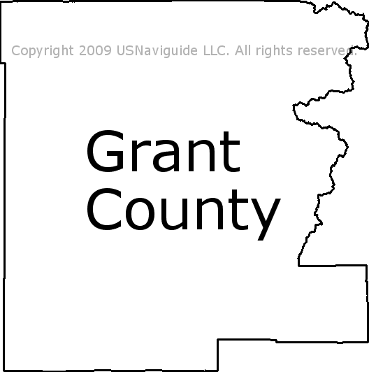 Grant County Oregon Zip Code Boundary Map Or